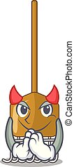 diabo, cultive ferramenta, ancinho, agricultura, mascote