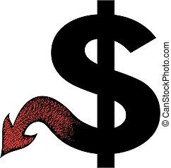 diabo, dólar