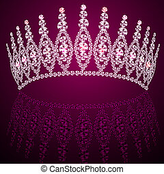 diadeem, trouwfeest, reflectie, corona, vrouwelijk