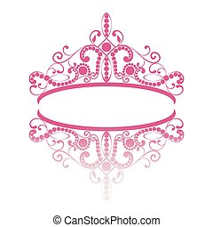 diadem. elegance feminine tiara with reflection