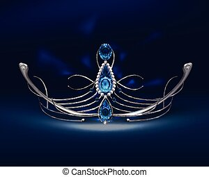 Diadem with sapphires