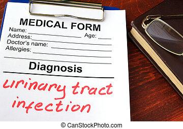 diagnose, urine-landstreek, infection.