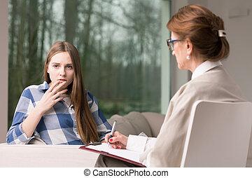 Diagnosing teenage girl
