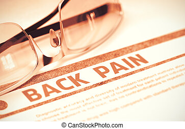 Diagnosis - Back Pain. Medical Concept. 3D Illustration. -...