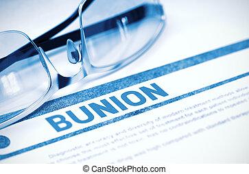 Diagnosis - Bunion. Medical Concept. 3D Illustration. -...