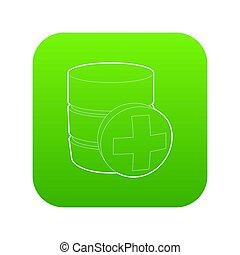 Diagnosis database icon green