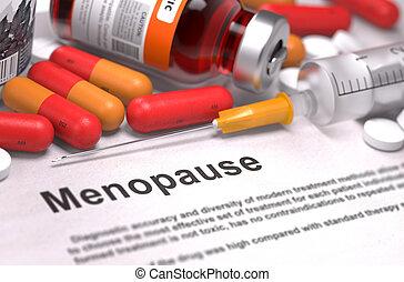 Diagnosis - Menopause. Medical Concept. - Diagnosis -...