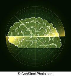 Diagnosis of brain disorders. Medical concept design.