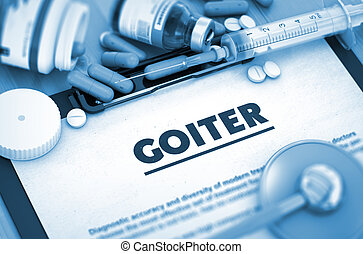 diagnosis., orvosi, concept., goiter