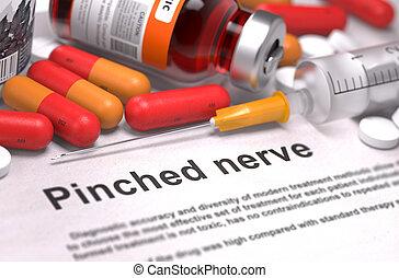 Diagnosis - Pinched Nerve. Medical Concept. - Diagnosis -...
