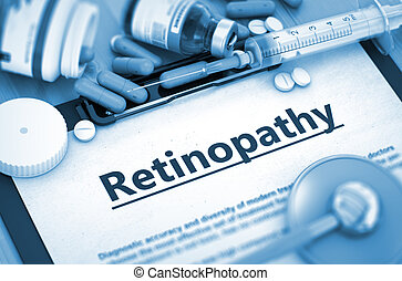 diagnosis., retinopathy, concept., monde médical