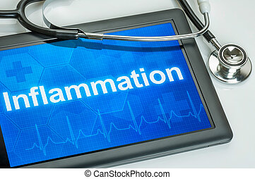 diagnostic, inflammation, tablette, exposer