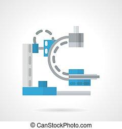 Diagnostic machine flat vector icon - X-ray, MRI equipment....