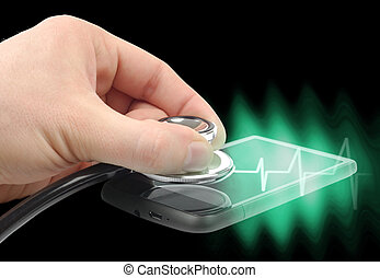 diagnosticar, smartphone