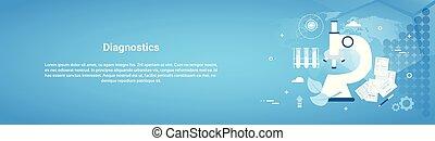 Diagnostics Medical Treatment Web Horizontal Banner With Copy Space