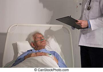 diagnostiquer, patient, docteur