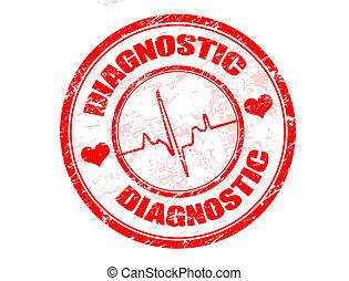 diagnostisch, briefmarke