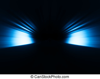 Diagonal blue rays bokeh background hd