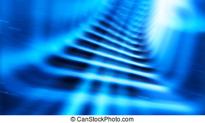 Diagonal blue teleport tunnel motion blur abstraction...