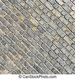 Diagonal brick wall background