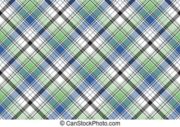 Diagonal check plaid texture seamless pattern. Vector...