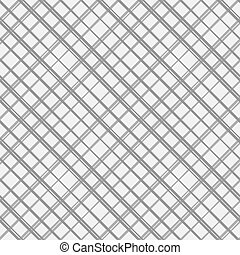 Diagonal checkered pattern of fine lines. Black and White...