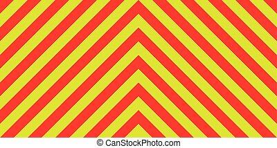 diagonal, emergência, ambulância, listras, sinal amarelo, aviso, tráfego, fundo, diagonalmente, segurança, listras, vermelho