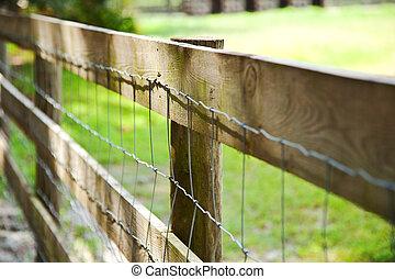 diagonal fence