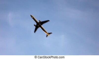 diagonal flying airplanes