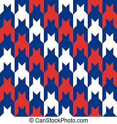 Diagonal Houndstooth in Red-White-Blue.eps