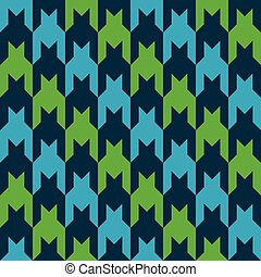 Diagonal Houndstooth_Blue-Green