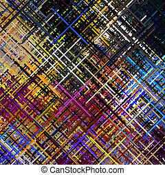 Diagonal Lines Art Abstract