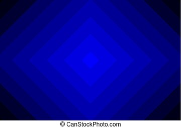 Concentric square blue vector pattern - Diagonal lines,...
