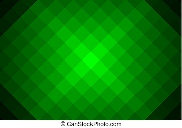 Concentric square green vector pattern - Diagonal lines,...