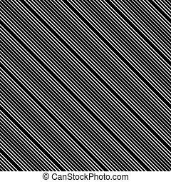 Diagonal, parallel lines seamless pattern. Vector art.