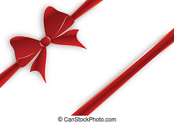 Diagonal red ribbon