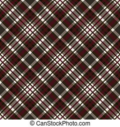 Diagonal seamless checkered pattern in grey, brown and red