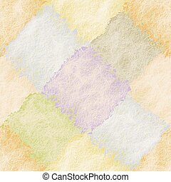 Diagonal seamless pattern with grunge stain square elements in pastel colors