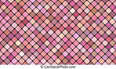 Diagonal square mosaic pattern background - seamless loop...