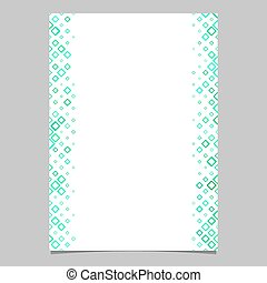 Diagonal square pattern brochure template - vector graphic from rounded squares in green tones for brochures, cards