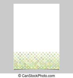 Diagonal square pattern page background template - vector graphic from squares in green tones for flyers, cards