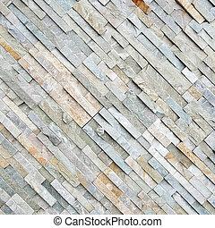 diagonal stone wall
