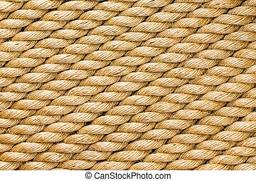 Diagonal strands of a new thick sisal rope