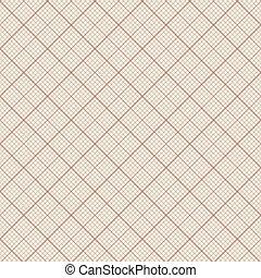 Diagonal vector seamless pattern - retro millimeter paper