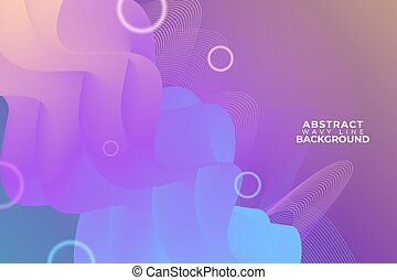 Diagonal Wavy Line Abstract Soft Gradient Orange Purple and Blue Background with Glow Circle Effect