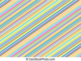 diagonale streifen, in, helle farben