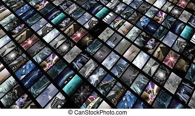 diagonally., animé, vidéo, 4k, loop-able, mur