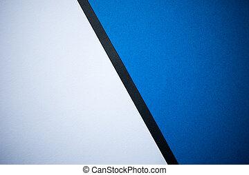 Diagonally divided white and blue background with black line