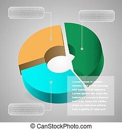 diagram., パイ, ビジネス, チャート