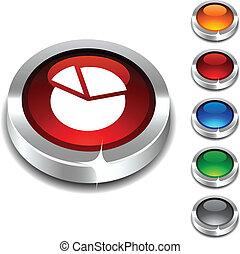 Diagram 3d button. - Diagram 3d button set. Vector...
